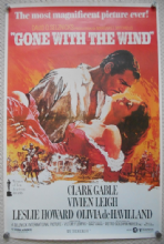 Gone With the Wind, Commercial Poster, Vivien Leigh, Clark Gable, '80